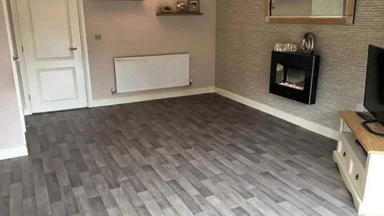 living room flooring work carried out by our team